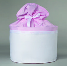 Christening box Felt and pink Cotton / Κουτί Βάπτισης απο τσόχα και ροζ βαμβεκερό ύφασμα
